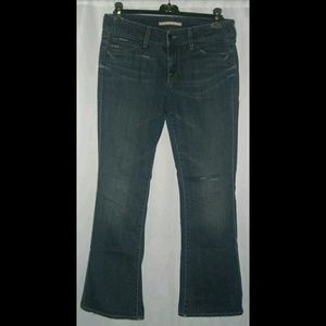 Vince Jeans Mankiller Distressed Faded Flares 30